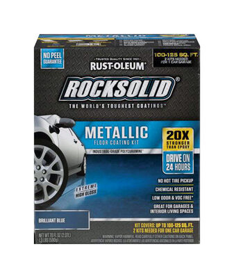 Rust-Oleum RockSolid Floor Coating Kit Extreme High Gloss Brilliant Blue 70 oz.
