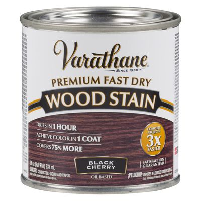 Varathane Premium Fast Dry Semi-Transparent Oil-Based Wood Stain Black Cherry .5 pt.