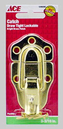Ace Bright Brass Lockable Drawer Catch 1 pk