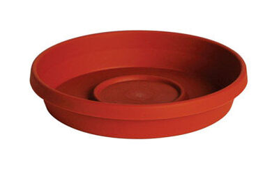 Bloem Terratray Terracotta Clay Resin Traditional Tray 2.7 in. H x 16 in. W
