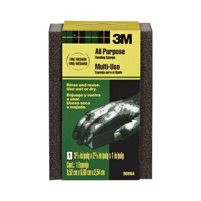 3M Sanding Sponge 2-5/8 in. W x 3-3/4 in. L Fine/Medium