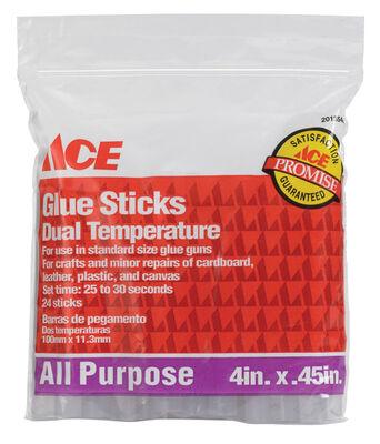 Ace All Purpose Glue Stick 0.5 in. Dia. x 4 in. L 24 pk