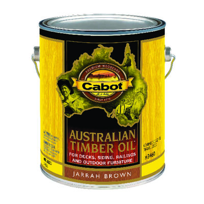 Cabot Transparent Oil-Based Australian Timber Oil Jarrah Brown 1 gal.