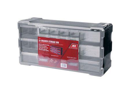 Ace Storage Organizer 9-1/2 in. H x 19-1/2 in. W x 6-1/4 in. L Gray