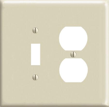 Leviton Midway 2 gang Ivory Nylon Toggle/Duplex Midsize Wall Plate 1 pk