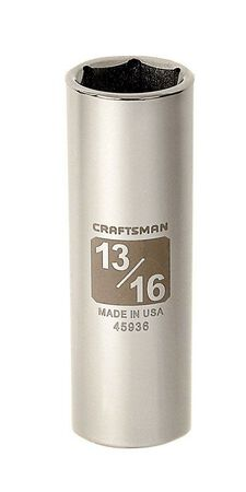 Craftsman 13/16 in. x 1/2 in. drive SAE 6 Point Deep Socket 1 pc.