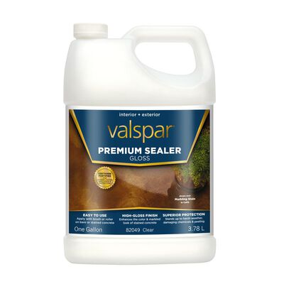Valspar Premium Sealer Low VOC 1 gal. Stained Concrete Sealer Clear