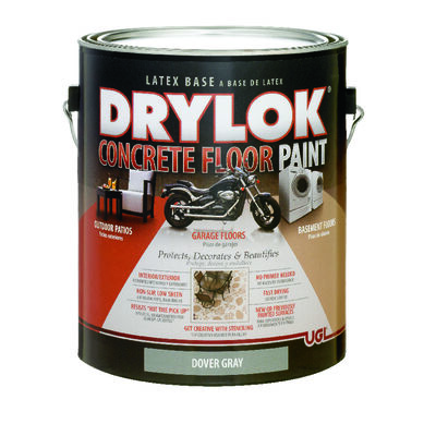 Drylok Floor Paint Low Sheen Dover Gray 1 gal.