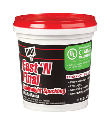 DAP Fast 'N Final Ready to Use Lightweight Spackling Compound 16 oz.