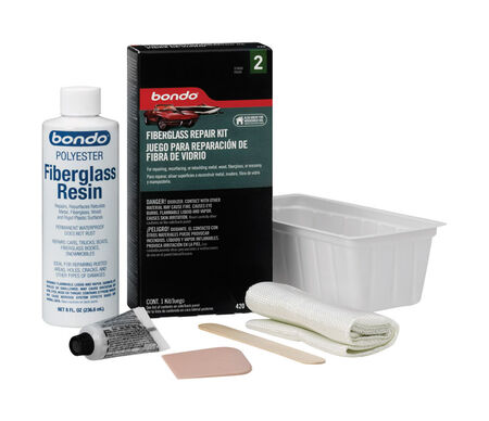 Bondo Fiberglass Resin Repair Kit 1/2 pt.