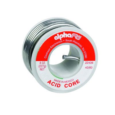 Alpha Fry 8 oz. For Plumbing Acid Core Solder Tin / Lead 40% Tin 60% Lead