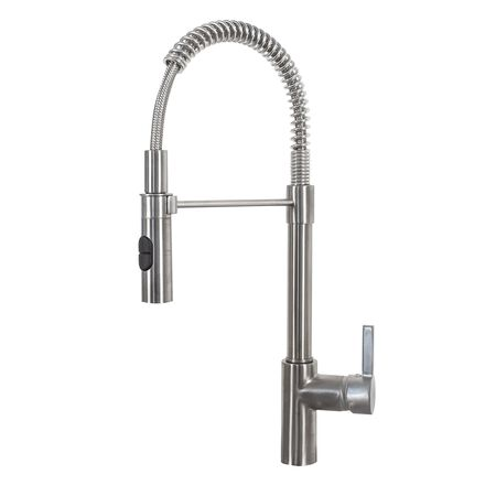 Franke Fuji Pull Down Sprayer One Handle Satin Nickel Kitchen Faucet