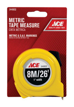 Ace Metric Tape Measure 1 in. W x 26 ft. L