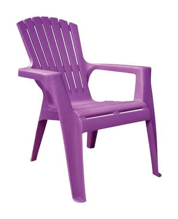 Adams Kids Bright Violet Polypropylene Adirondack Chair