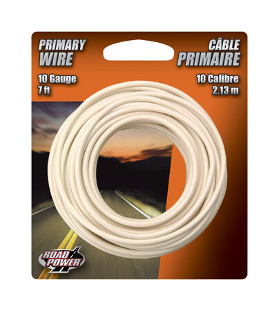 Coleman Cable 7 ft. L Primary Wire 10 Ga. Carded