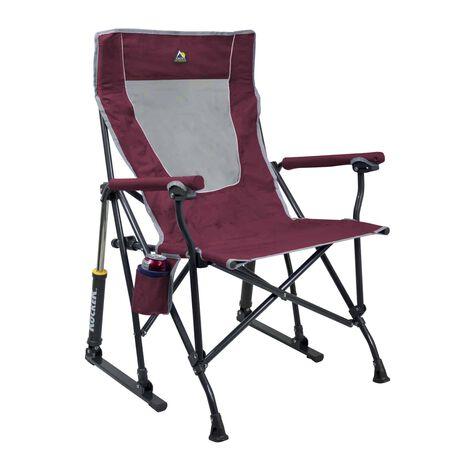 GCI Outdoor Maroon Roadtrip Rocker Folding Chair