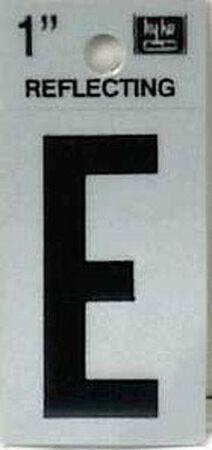 Hy-Ko Self-Adhesive Black Reflective Vinyl Letter E 1 in.