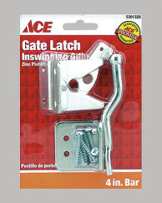 Ace Adjustable Inswing Gate Latch Inswing 4 in. Adjusts for Sag on Gates Barn Doors and Animal Pens