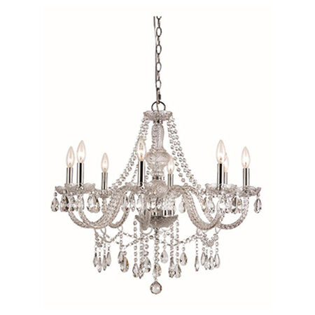 "Zircon 27.5"" Chandelier 8 Light"