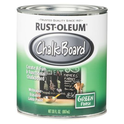 Rust-Oleum Interior Latex Chalkboard Paint Green Flat 1 qt.