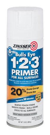 Zinsser Bulls Eye 123 Styrenated Acrylic Interior and Exterior Primer and Sealer 13 oz. White