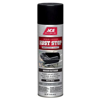 Ace Rust Stop Black Gloss Spray Paint 15 oz.