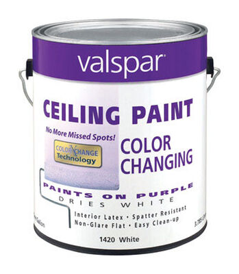 Valspar Flat Color Changing Ceiling Paint Purple to White 1 gal.