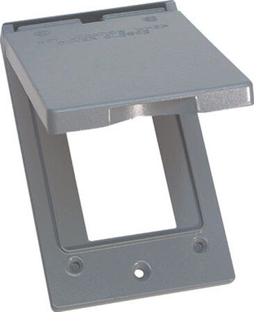 Sigma Rectangle Aluminum 1 gang Electrical Cover For 1 GFCI Receptacle Gray