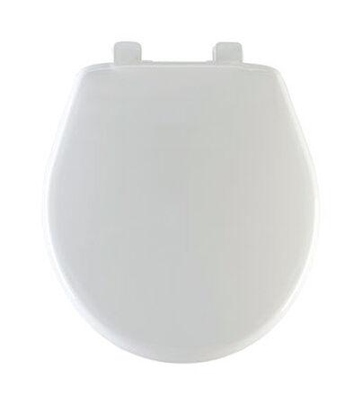Mayfair Plastic Slow Close Toilet Seat Round White