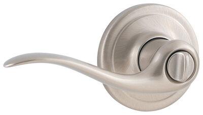 Weiser Toluca Privacy Lockset Satin Nickel 2 Grade Right Handed