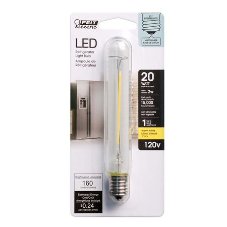FEIT Electric T6.5 E17 (Intermediate) LED Bulb Warm White 25 Watt Equivalence 1 pk