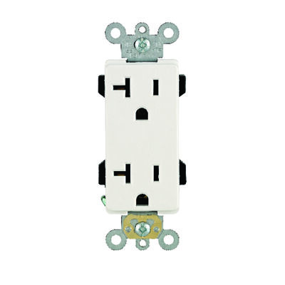 Leviton Decora Plus Electrical Receptacle 20 amps 5-20R 125 volts White