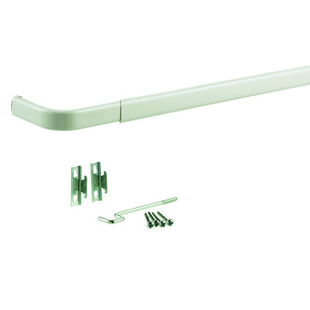 Kenney Curtain Rod 84 in. L Enamel