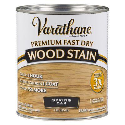 Varathane Premium Fast Dry Semi-Transparent Oil-Based Wood Stain Spring Oak 1 qt.
