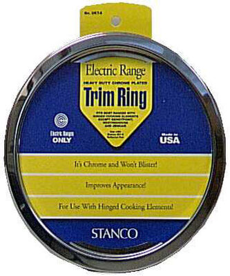 Stanco Chrome-Plated Steel Range Trim Ring 6 in.