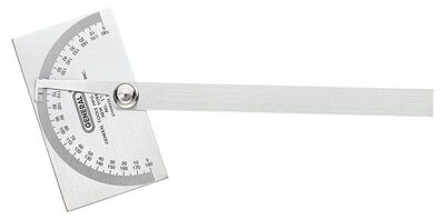 General Tools Protractor 6 in. W x 11-3/4 in. L Stainless Steel