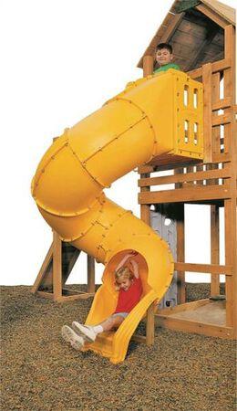 Spiral Tube Slide, 400 Lb