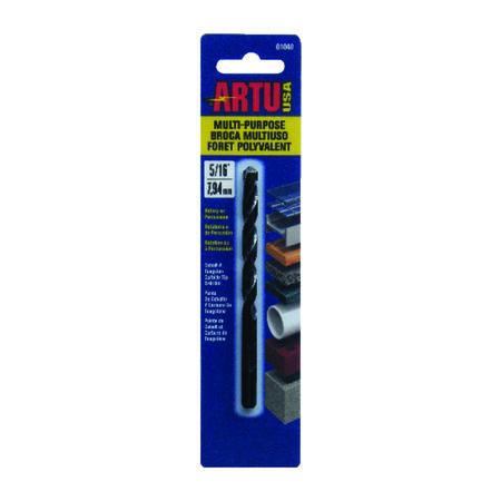 ARTU Carbide Tipped Straight Shank 5/16 in. Dia. x 4-1/2 in. L Drill Bit 1 pc.