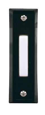Heath Zenith Black Wired Pushbutton Doorbell