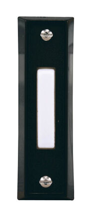 Heath Zenith Black Wired Pushbutton Doorbell