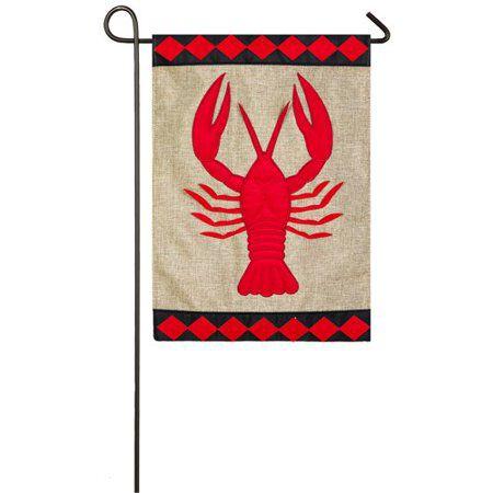 Garden Flag Crawfish burlap