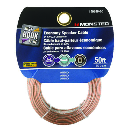 Monster Cable 50 ft. L Speaker Cable AWG