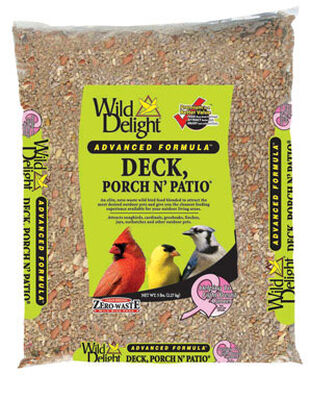 Wild Delight Deck Porch N' Patio Assorted Species Wild Bird Food Sunflower Seeds 5 lb.