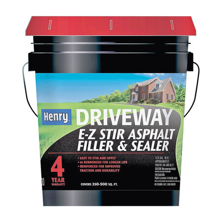 Henry HE200411 EZ Stir Asphalt Filler and Sealer, Black, 5 gal Pail