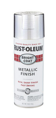 Rust-Oleum Stops Rust Aluminium High Gloss Bright Coat Metallic Spray 11 oz.