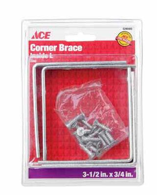Ace Inside L Corner Brace 3-1/2 in. x 3/4 in. Zinc
