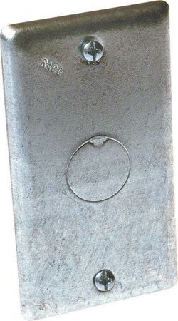 Raco Rectangle Steel 1 gang Electrical Cover For Exposed Work Application Gray