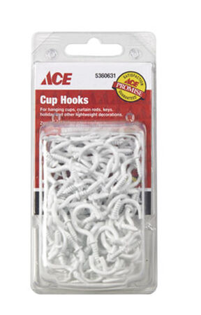 Ace 1.3125 in. L Steel Cup Hook 75 pk