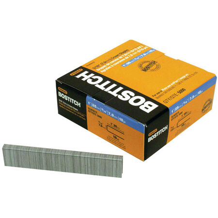 "5,000-QTY. 1"" Leg 18-Gauge 5/16"" Bostitch Cap Staples"