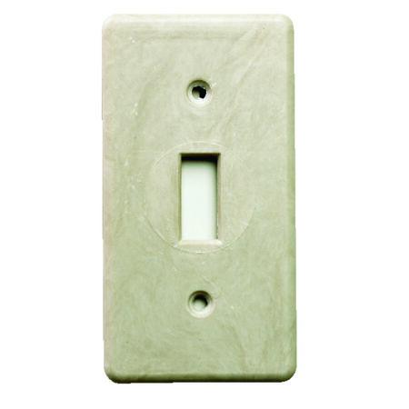 Allied Moulded 3-5/8 in. H 1 Gang Switch Box Beige Fiberglass